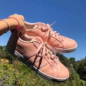 ADIDAS NEO women's peach sneakers